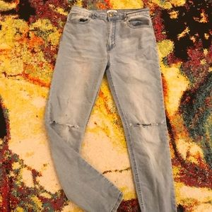 Forever 21 Home-Distresses High Waisted Jeans